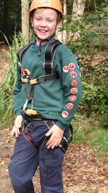 Barnaby after zip wire