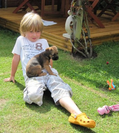 Cuddles in the garden...