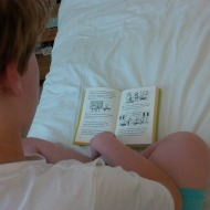 Reading on the bed