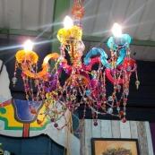 coloured chandelier