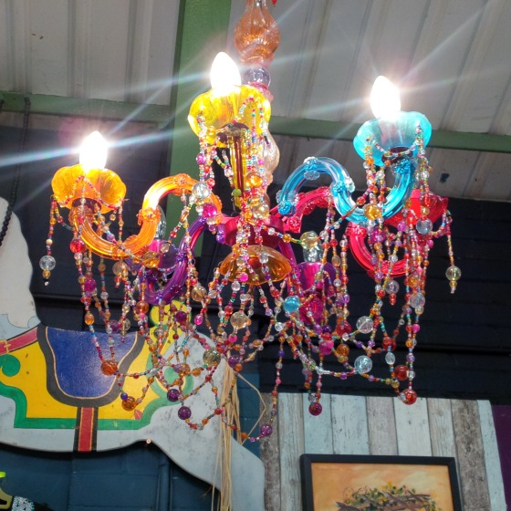 coloured chandelier