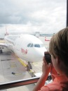 MasterB taking a pic of our plane...