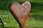 wooden carved heart