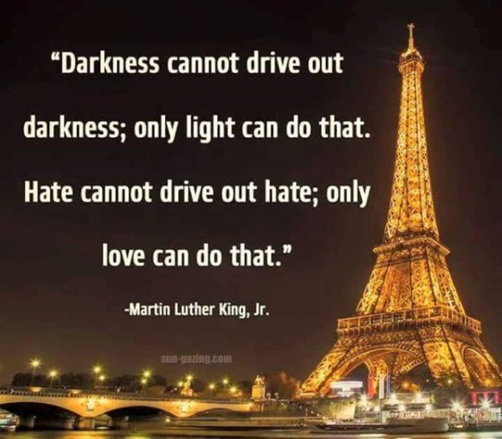 Paris and peace with Martin Luther King